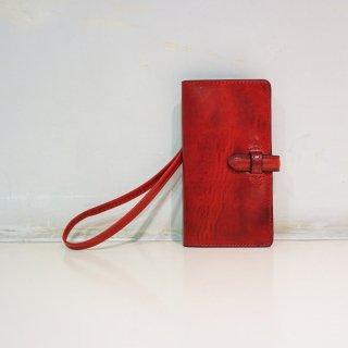 ISAMUKATAYAMA BACKLASH イタリアンダブルショルダー スマホケース+ウォレット大(849-06)RED