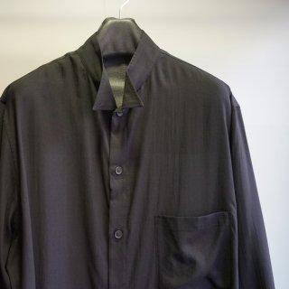 YOHJI YAMAMOTO HOMME テンセルローン スタンド襟 ウィングカラーシャツ(HD-B10-203)