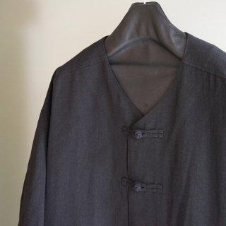 ISAMUKATAYAMA BACKLASH コットンリネン 半袖ビッグシャツ(1933-02)