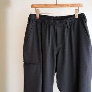 YOHJI YAMAMOTO HOMME Reギャバ ダブルリブ 片玉ポケット パンツ(HD-P01-140)