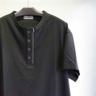 YOHJI YAMAMOTO HOMME カルティマ天竺度詰めファスナーヘンリーTシャツ(HD-T15-071)