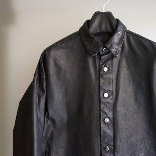 ISAMUKATAYAMA BACKLASH イタリーショルダー0.6mm製品染めオーバーシャツ(1872-08)
