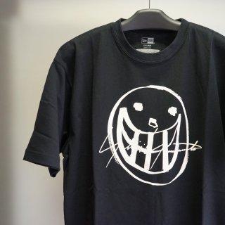 YOHJI YAMAMOTO HOMME  SS21 スマイル シグネチャーロゴ コットン Tシャツ(HD-T98-083)