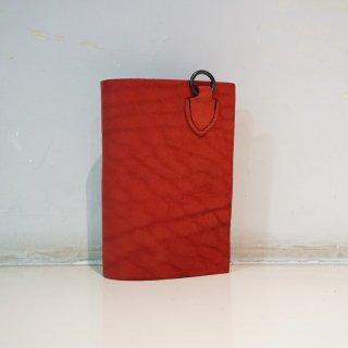 ISAMUKATAYAMA BACKLASH ダブルショルダー製品染めウォレット(318-03)RED