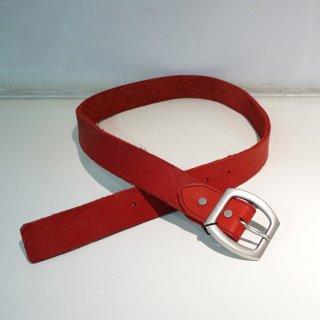 ISAMUKATAYAMA BACKLASH ダブルショルダー製品染め40mmベルト(318-31)RED