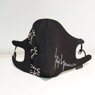 YOHJI YAMAMOTO HOMME アーミーギャバ フック シグネチャープリント カバーマスク(HX-A20-103)