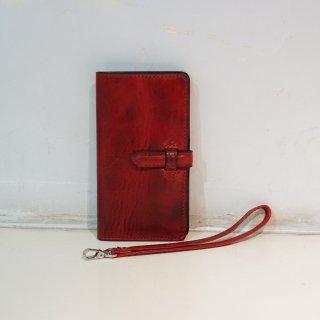 ISAMUKATAYAMA BACKLASH イタリアンダブルショルダー携帯ケース+財布L(849-06)RED