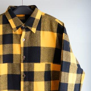 ISAMUKATAYAMA BACKLASH ウールチェック ストレッチシャツ(1960-01)YEL