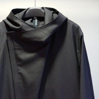 GroundY Gabardine Double long hoodie coat(GA-C08-100)