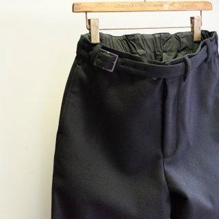 ISAMUKATAYAMA BACKLASH ウールカシミヤ メルトン ベルト付きパンツ(1958-01)BLK