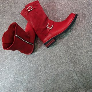 BACKLASH ジャパンダブルショルダー製品染めエンジニアブーツ(500-14)RED