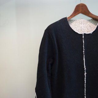 bajra 先染め吊り裏毛 製品洗いイージースウェット(119BK03)BLK