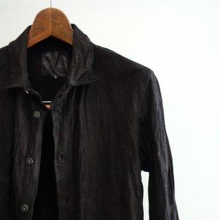 BACKLASH カンガルースウェード製品洗いシャツ(1497-05)BLK