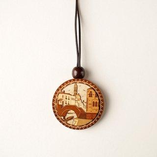 木はり絵ペンダント「ヴェネツィア」
