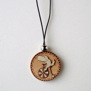 木はり絵ペンダント「サイクリングサイクリング♪」
