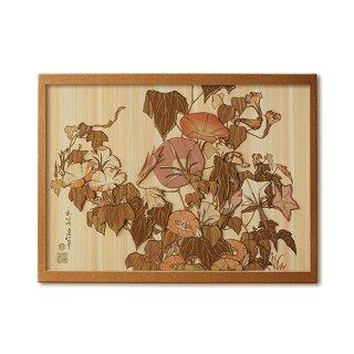 木はり絵手作りキット「朝顔に雨蛙」