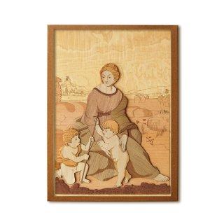 木はり絵手作りキット「ベルヴェデーレの聖母」