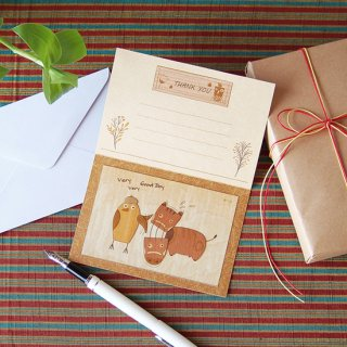 【初回限定・送料無料】木はり絵お試しキット・グリーティングカード
