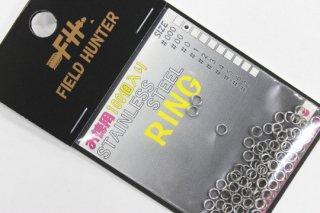 フィールドハンター スプリットリング S.RING シルバー #00 徳用100本入り