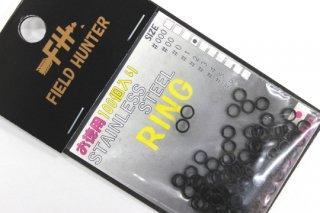 フィールドハンター スプリットリング S.RING ブラック #1 徳用100本入り