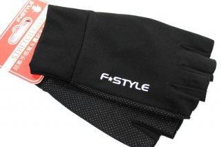 F★STYLE ストレッチグローブ 5F #ブラック×ホワイトロゴ