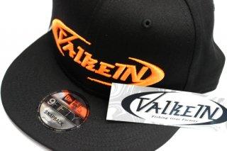 ValkeIN フラットキャップ #ブラック/蛍光オレンジ