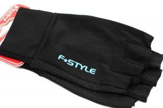 F★STYLE ストレッチグローブ 5F #ブラック×ライトブルーロゴ