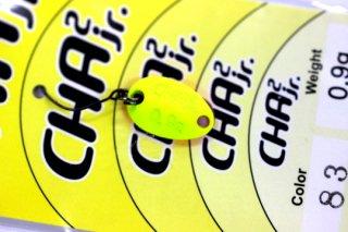 ロデオクラフト チャチャ CHA2 Jr 0.9g #83 蛍光イエロー/蛍光ピンク 両面グロー