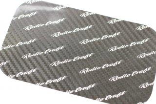ロデオクラフト RCカーボンステッカー スリムコンパクトサイズ #ブラック/ホワイトロゴ