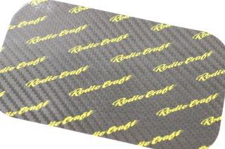 ロデオクラフト RCカーボンステッカー スリムコンパクトサイズ #ブラック/イエローロゴ