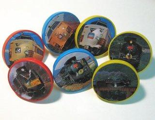懐かしの列車&SL缶コマ(7種セット)【デッドストック】