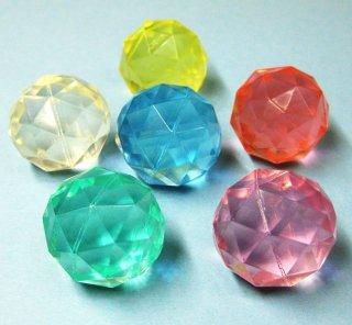 スーパーボール「ダイヤモンド」【大】(6種セット)49mm