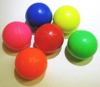スーパーボール カラフル(6種セット)38mm