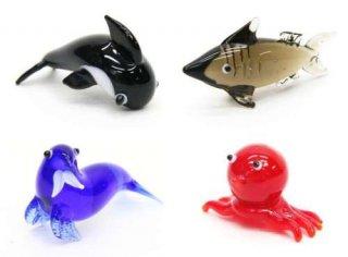 ガラス細工(海の生き物)[4種セット]