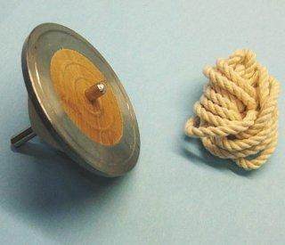 鉄輪コマ≪厚輪≫(ひも付き)(厚輪こま)