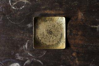 鎚目模様の角皿