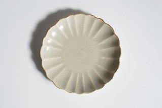 6寸皿  ハナ 灰鼠
