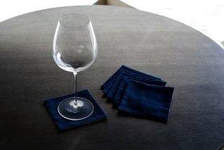 藍染ワインコースター