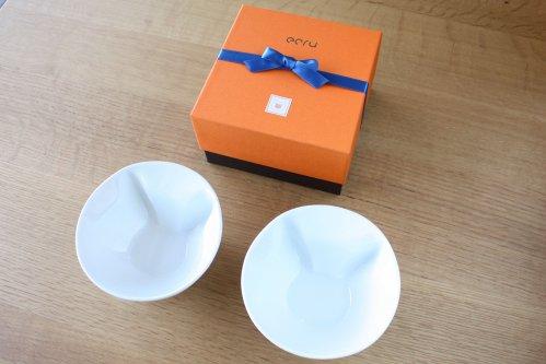 ecru新作ねこスープボール 2個セット用化粧箱付