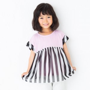<img class='new_mark_img1' src='https://img.shop-pro.jp/img/new/icons24.gif' style='border:none;display:inline;margin:0px;padding:0px;width:auto;' />【40%OFF】シフォン生地付きTシャツ(ピンク)