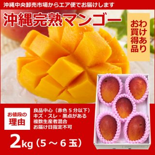 わけあり 沖縄県産マンゴー  2kg(4〜6玉)