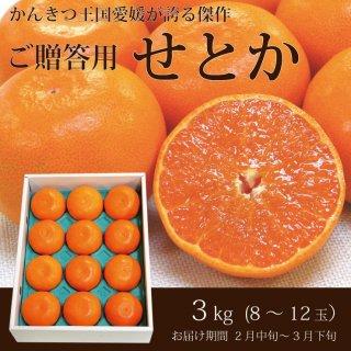 【2月・3月のお届け】愛媛のご贈答用「せとか」3kg(10〜15玉)