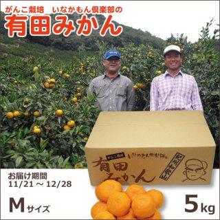 和歌山県産有田いなかもん倶楽部のがんこ栽培みかん Mサイズ5kg