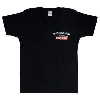 『WORLD COUNTDOWN』VネックTシャツ(ブラック)