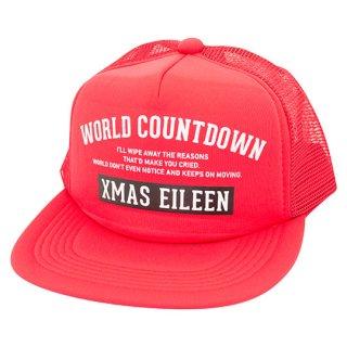 『WORLD COUNTDOWN』メッシュキャップ(RD)