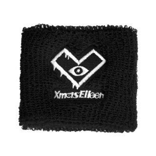 ロゴ刺繍リストバンド(ブラック)