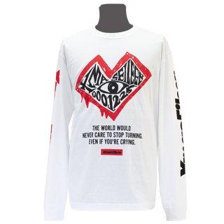 XE カオスハート ロングTシャツ(ホワイト)<br>【A/W】