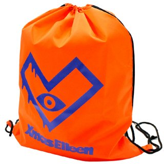 XE-ナイロンランドリーバック(オレンジ/ブルー)