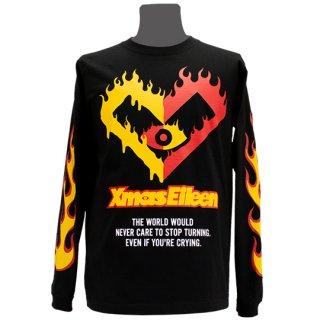 XE2019 ファイヤー ロングTシャツ(ブラック・ 赤黄)<br>【XE S/S2019】
