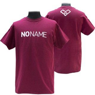 XE2019 NO NAME Tシャツ バックプリント(バーガンディー)ギルダン<br>【N/N】